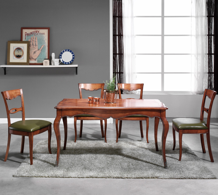 쇼콜라 프렌치 빈티지 식탁 6인세트 (의자형 / 암체어 2ea+사이드체어4ea) / 월 81,800원