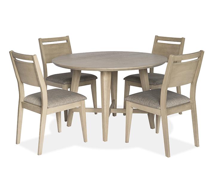 1183 라운드 4인 식탁세트 [테이블+의자 4개] - 오크 / 월 79,800원
