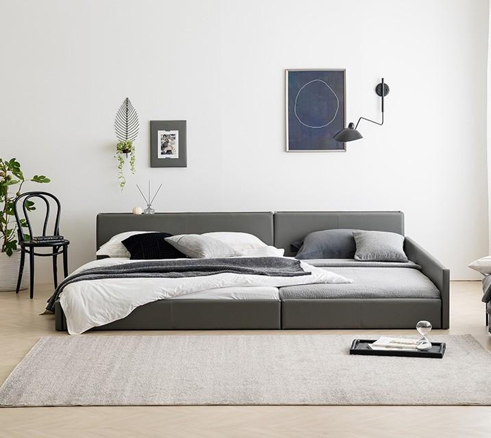 데이지 패밀리 침대 [그레이] Q+Q+PVC 깔판 / 월 49,800원