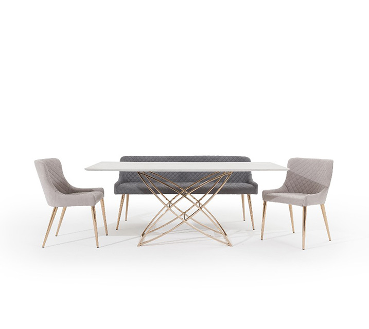 [L]코다 세라믹 4인 식탁세트 (의자2ea, 벤치1ea) / 월 81,800원
