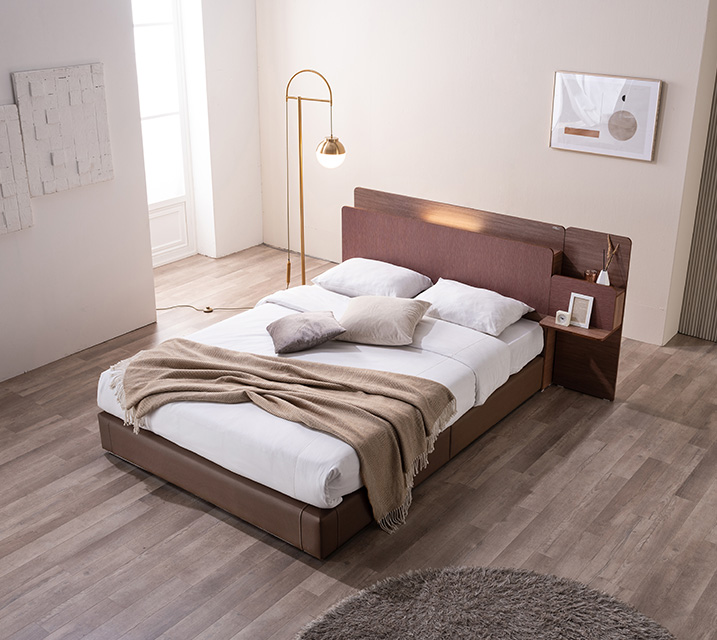 카니스 LED 침대 슈퍼싱글 (SS) 침대세트 [독립매트리스 포함, 협탁 미포함] / 월 49,800원