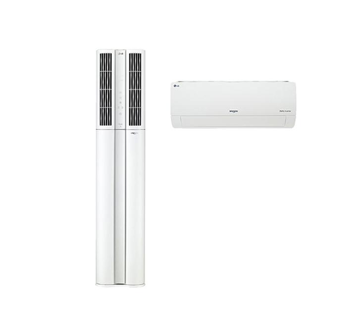 [L] LG 휘센 듀얼에어컨 스탠드형 17+7평형 FQ17VBDWE2 / 월79,900원